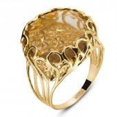 Myra Gold 14 K Altın Citrine Taşlı Yüzük