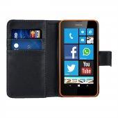 Microsonic Cüzdanlı Deri Nokia Lumia 630 635 Kılıf Siyah