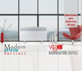 Vigo Manuel 1500 Watt Beyaz Elektrikli Panel Konve...
