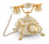 Osmanlı Beyaz Varaklı Swarovski Taşlı Telefon