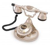 Antik Damla Gümüş Varaklı Swarovski Taşlı Telefon...