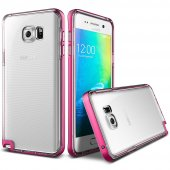 Verus Galaxy Note 5 Crystal Bumper Kılıf Hot Pink