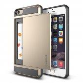 Verus İphone 6 Plus 6s Plus Damda Slide Kılıf Shine Gold