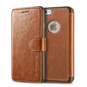 Verus İphone 6 6s 4.7 Wallet Layered Dandy Brown Dark Brown