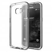 Verus Samsung Galaxy S7 Crystal Bumper Kılıf Steel Silver
