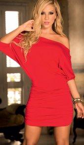 Merry See Şık Kırmızı Mini Elbise