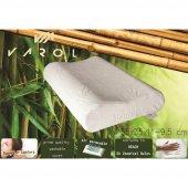 Varol Bambu Yastık Kılıflı Visco Yastık Orta Boy 55x35cm