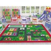 Confetti Town 133x190 Cm Anaokulu Kreş Çocuk Odası Oyun Halısı