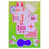 Ivi 100x200 Çocuk Odası Evcilik Yeşil Oyun Halısı