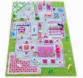 Ivi Çocuk Odası Evcilik Yeşil 100x150 Cm Oyun Halısı
