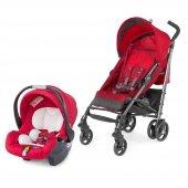 Chicco Lite Way Plus Travel Sistem Bebek Arabası Kırmızı