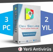 Dev Secure 3pc, 2yıl Masaüstü Yerli Antivirüs