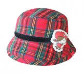 şapka Kırmızı Ekose