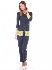 59439 Pamuklu Dantel İşlemeli Düğmeli Pijama Takımı