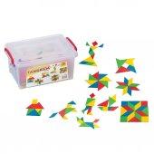 Tangram Oyunu Eğitici Lego Oyuncak Zeka Geliştirici Eğitici Oyun