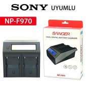 Sony Np F970 İkili Dijital Şarj Aleti Sanger