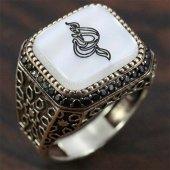 925 Ayar Gümüş Erkek Yüzük Allah Arapça Yazı Selçuklu Model