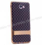 Samsung Galaxy J5 Prime Lux Desenli Silikon Kılıf Siyah