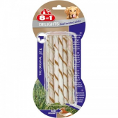 8in1 Delights Bones Biftekli Köpekler İçin Twested Sticks 10 Lu