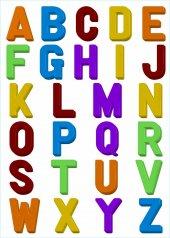 Duvar Süsü (Sticker) Harfli Desenli Pvc