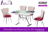 Masa Sandalye Takımı En 936 Geometrik Desenli Masa Takımı