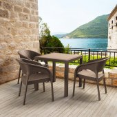Siesta Panor 80 Rattan 4 Sandalyeli Bahçe Balkon Masa Takımı