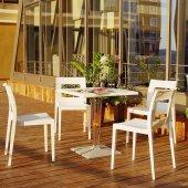 Siesta Icecca Bahçe Mutfak Balkon 4 Sandalyeli Kare Masa Takımı
