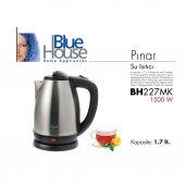 Blue House Bh227mk Pınar Gizli Resitanslı Çelik Su Isıtıcı Kettle