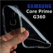 Samsung Galaxy Core Prime G360 Şeffaf Esnek Silikon Kılıf