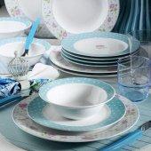 Kütahya Porselen 9377 Çiçekli 24 Prç Yemek Takımı