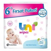 Uni Wipes Islak Havlu 64 Lu 6 Lı Fırsat Paket (384 Yaprak)