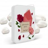 Kişiye Özel Sevgi Sözcüklü Beyaz Metal Çakmak 6