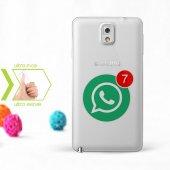 Kişiye Özel Samsung Galaxy Note 3 İnce Şeffaf Silikon Telefon Kapağı (Whatsapp 2)