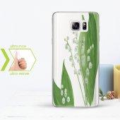 Kişiye Özel Samsung Galaxy Note 5 İnce Şeffaf Silikon Telefon Kapağı (Yaprak Temalı 1)