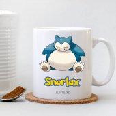 Kişiye Özel Pokemon Snorlax Beyaz Kupa Bardak