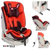 Norfolk Pro Baby Safe Isofixli 9 36 Kg Çocuk Oto Koltuğu Red Hot İsofix Sıps Latch Ece R44 4