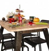 Purupa Meşe Mutfak Masası Yemek Masası