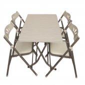 Katlanır Balkon Masa Sandalye Takımı 60x90 Wht