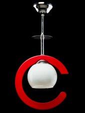Sinem Avize Hilal Dekoratif Kırmızı Tekli Avize