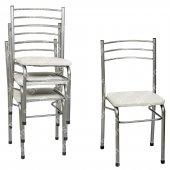 Sinem Kalın Profil Dayanıklı Metal Sandalye 4lü Takım Snwht04