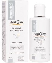 Dermoskin Acnegun Perfect Clean Facial Wash 200 Ml Yüz Temizleme