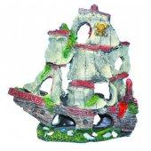 Ti Sert Yelkenli Gemi Orta Boy Akvaryum Dekoru (D 123)