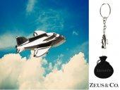 Zeus&co. 3 Boyutlu Uçak Anahtarlık Hediye Kesesi İçinde