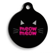 Meow Yuvarlak Kedi Künyesi