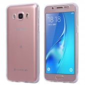 Microsonic Samsung Galaxy J7 2016 Kılıf 6 Tarafı Tam Full Koruma 360 Clear Soft Şeffaf