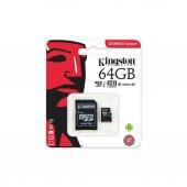Kingston 64gb Micro Sd Hafıza Kartı C10 80mb S Sdcs 64gb