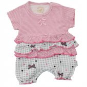 Babyzuff Kelebekli Kız Bebek Kısa Tulum Pembe