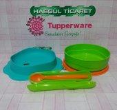 Tupperware İlk Tabağım Ve Mama Kaşığı (Mama Kabı) Hasgül