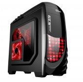 Elba Xk2 Gamer Siyah Kırmızı Led Panel Atx Kasa