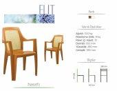 6 Adet Novussi Elit Hasır Model Sandalye (Kahverengi Renk)